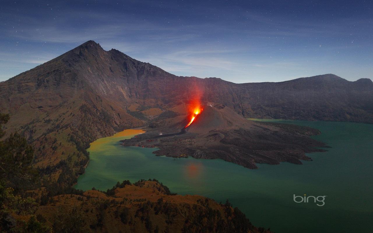 Вулкан в озере или озеро в вулкане