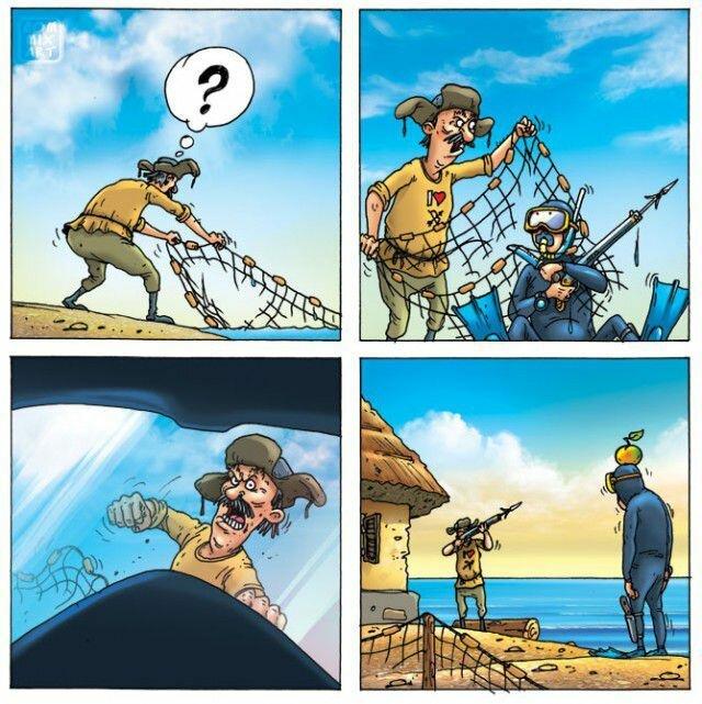 Закинул дед невод в синее море