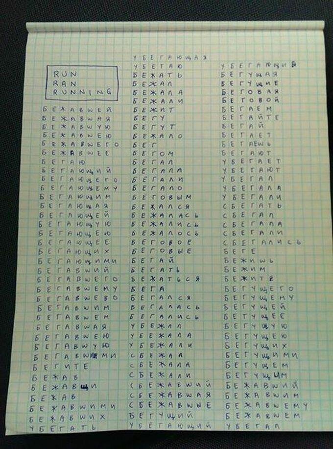 Разница между русским и английским языками