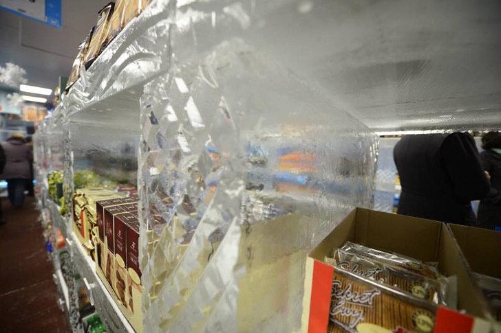 Необычное здание - ледяной супермаркет
