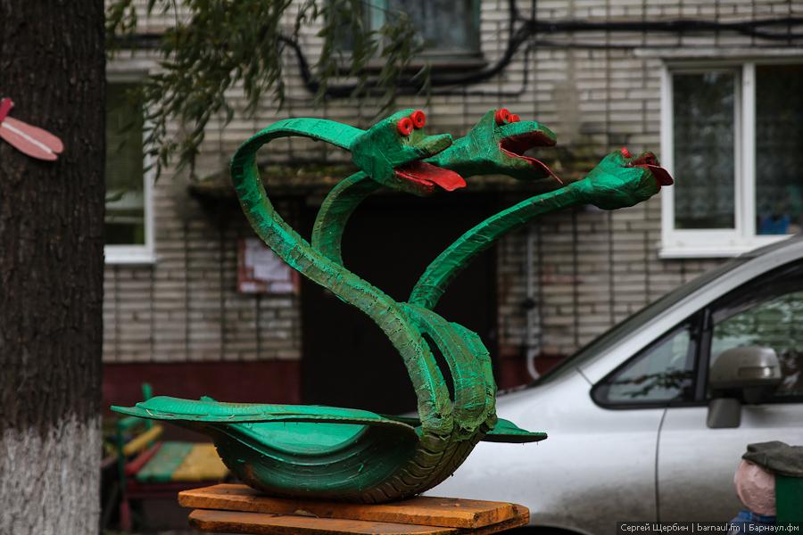 Змей горыныч своими руками из дерева 61