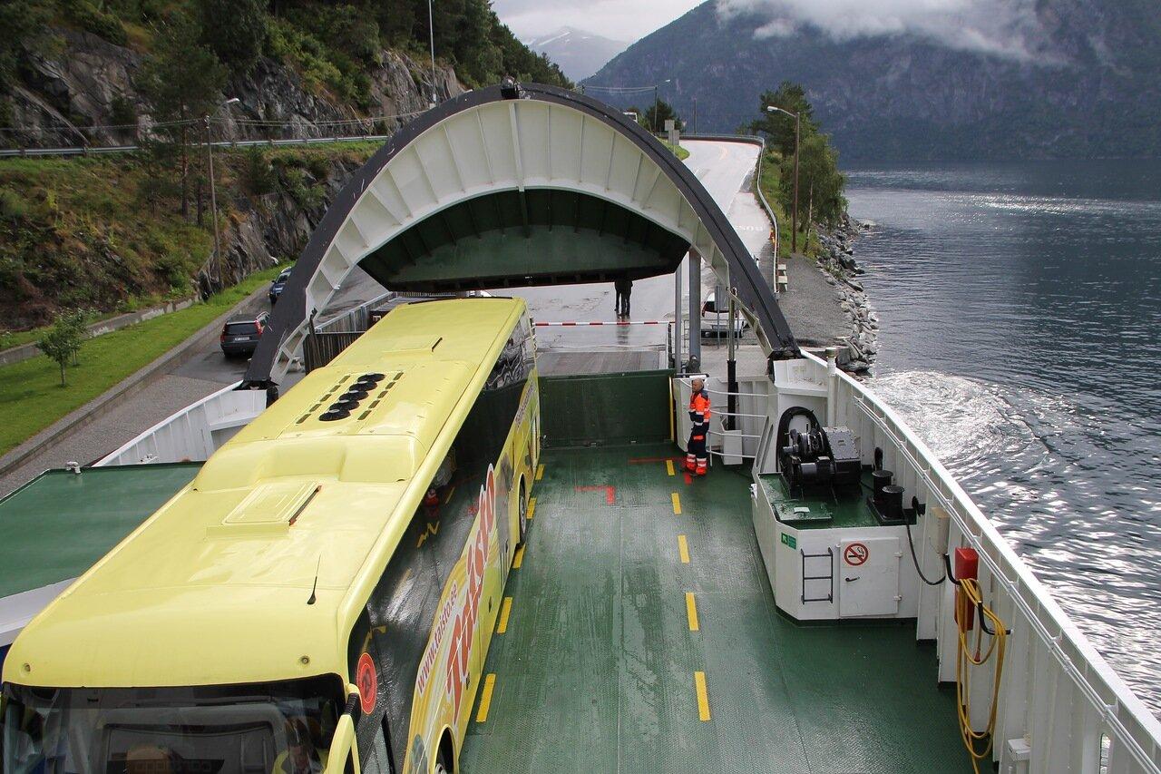 Norway, Nordalsfjorden, Ferry. Норвегия, Норддалсфьорден, паром,
