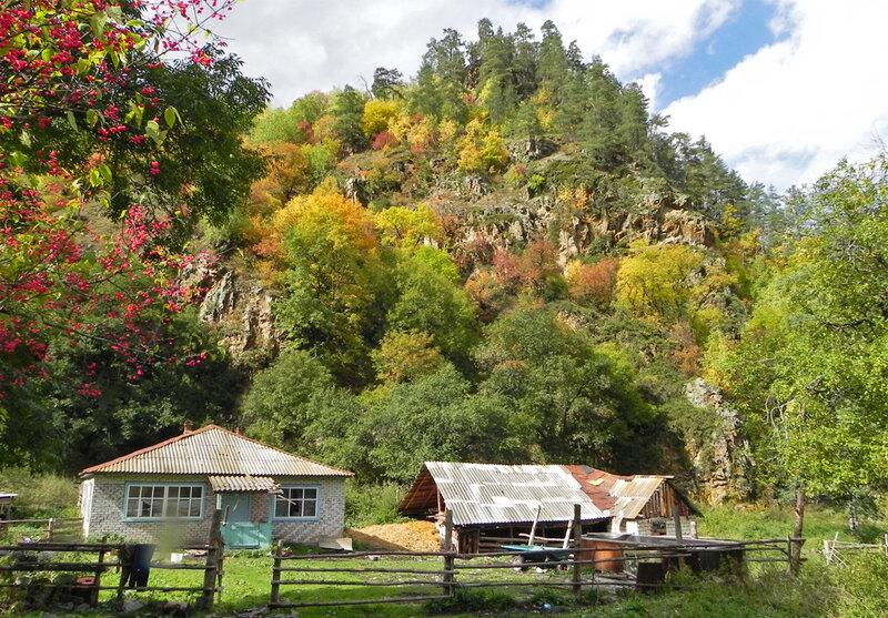 домохозяйство в горах