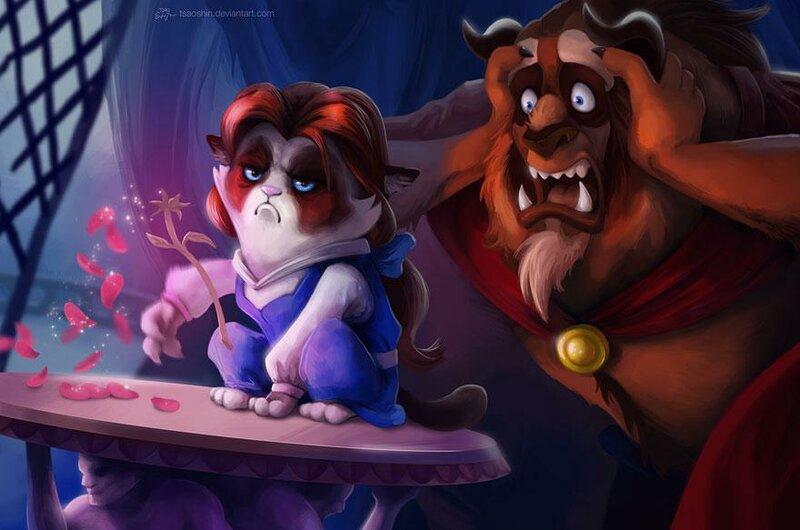 Сердитый кот герой мультфильмов Диснея