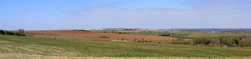 Панорама Чепецка и окрестностей с высокой горы