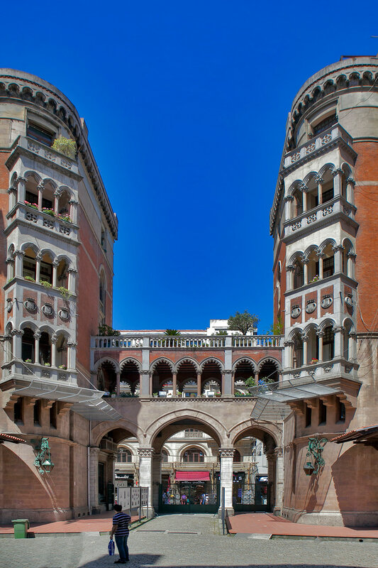 The courtyard of the Church of Saint-Antoine (St Antony of Padua