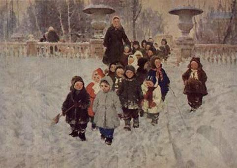 А. Ратников. Нагулялись. 1955.