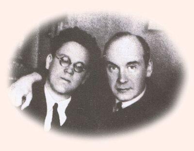 Самуил Яковлевич Маршак и Владимир Васильевич Лебедев.