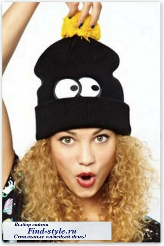 стильные женские шапки, стильные шапки для девушек, Lazy Oaf