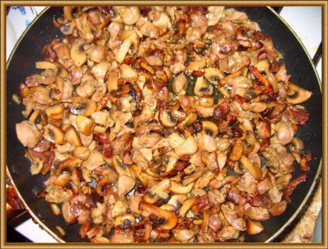 Рецепт приготовления жареных шампиньонов