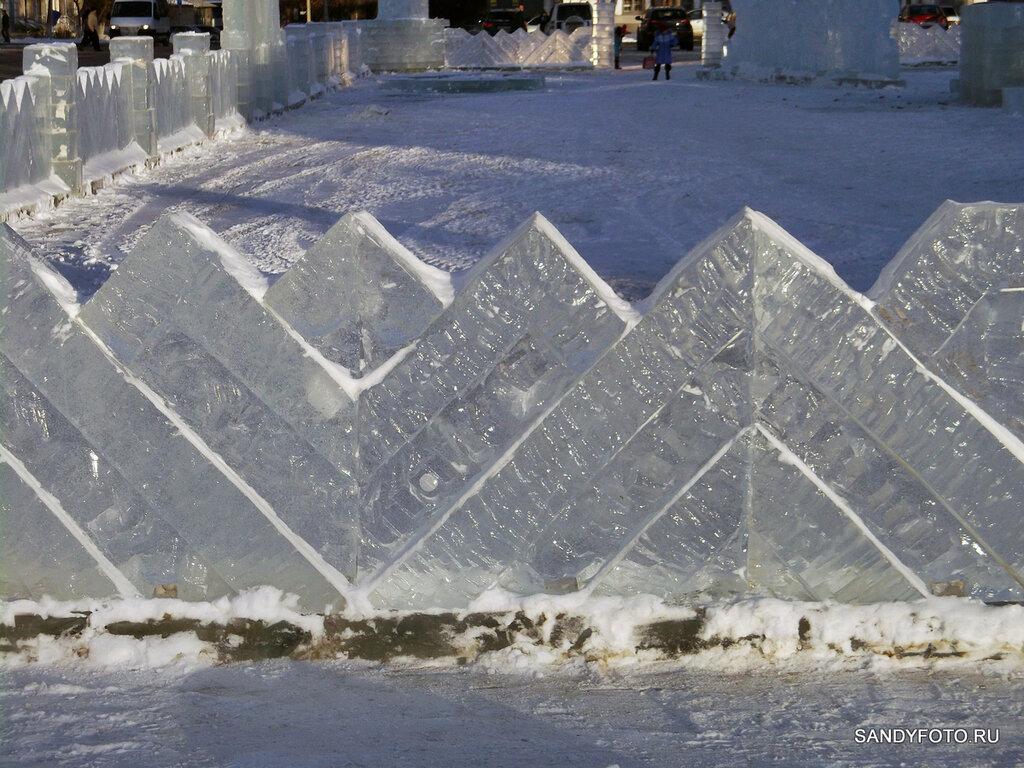 Строительство ледяного городка в Троицке #3