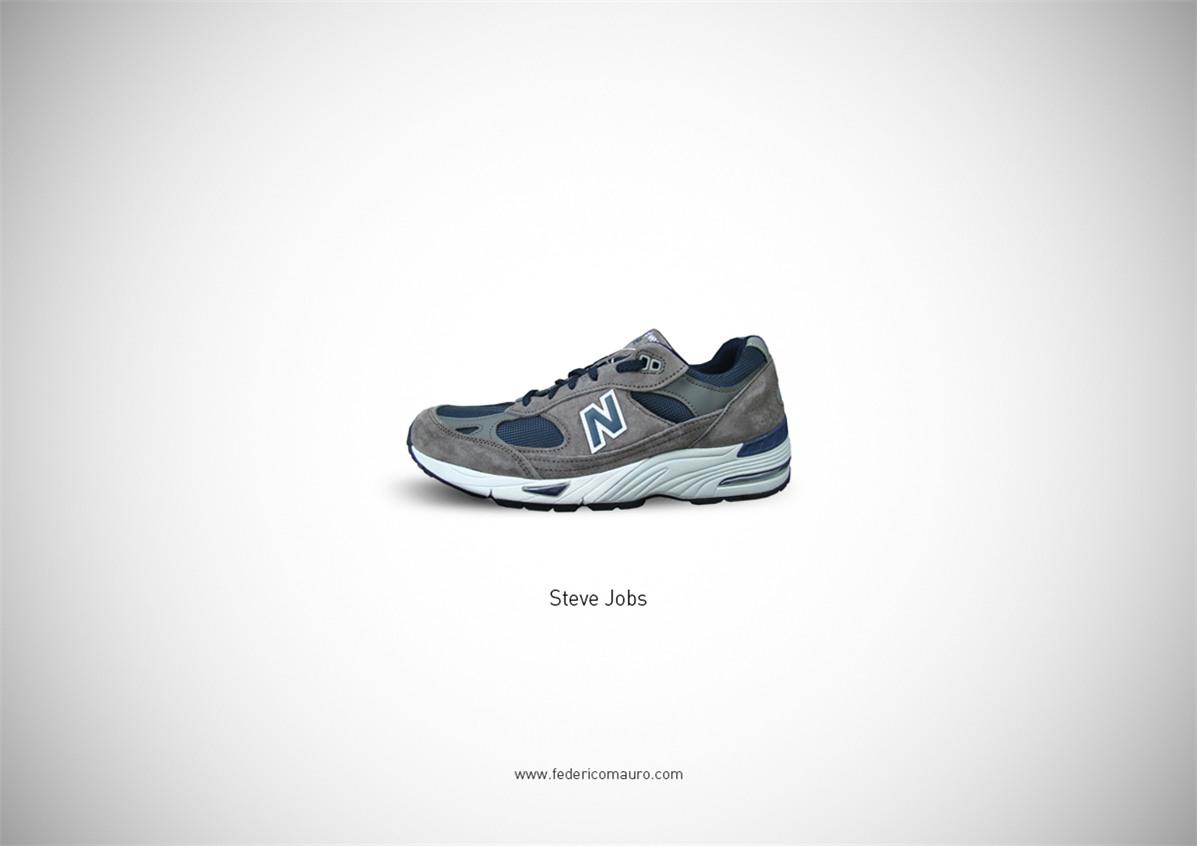 Знаменитая обувь культовых персонажей / Famous Shoes by Federico Mauro - Steve Jobs