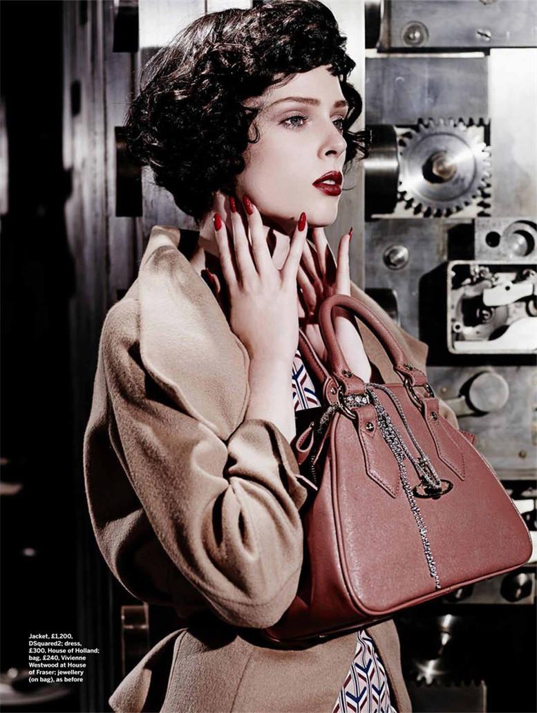 Поймать вора - Коко Роча / Coco Rocha by Joshua Jordan as Film Noir in Stylist Magazine a/w 2013