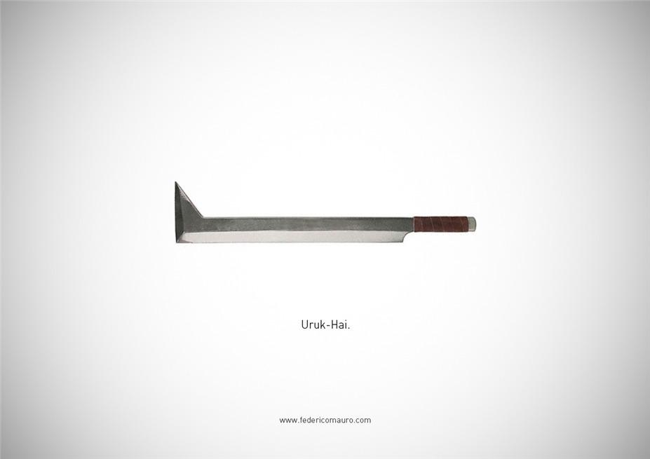 Знаменитые клинки, ножи и тесаки культовых персонажей / Famous Blades by Federico Mauro - Uruk-Hai