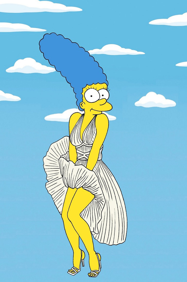 Marge Simpson as a Marilyn Monroe - Style Icons in aleXsandro Palombo illustrations