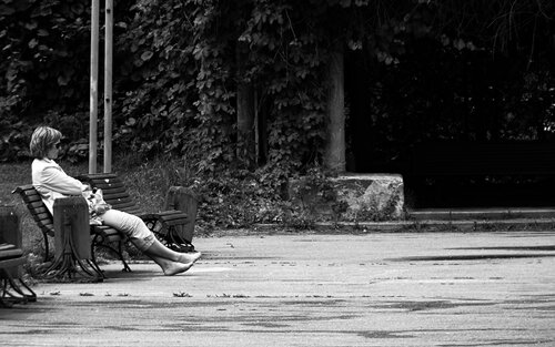 Отдых на скамейке