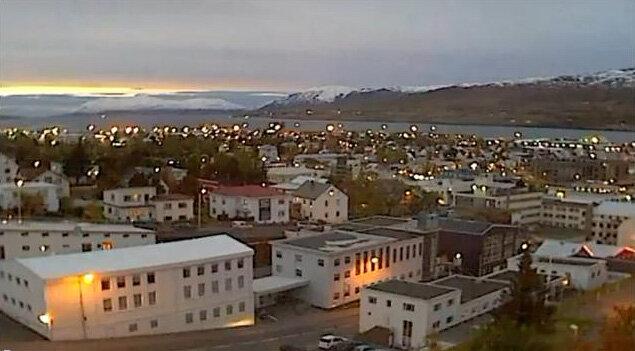 Житель Исландии снял приземление НЛО