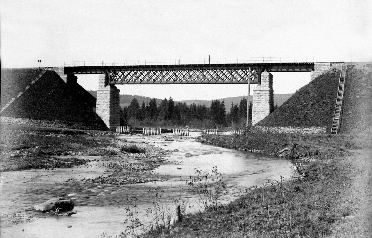 Железнодорожный мост через р. Тесьма. Начало 1900 г.