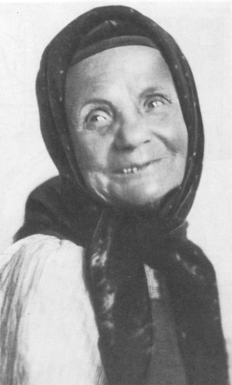 «Вещая старушка» - Марья Дмитриевна Кривополенова. Русская народная сказительница. 1915 г.