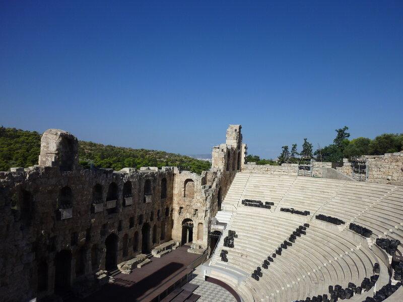 Одеон: вид с Акрополя