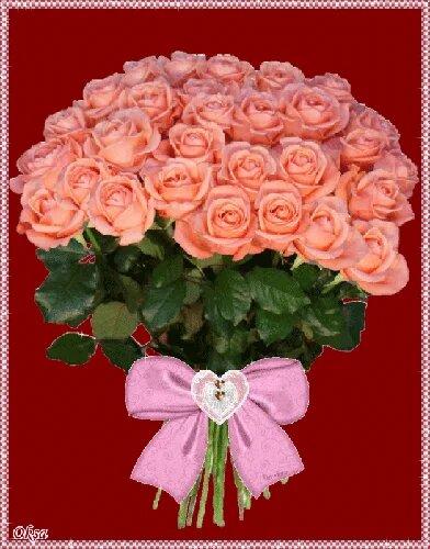 Букет роз - Открытки с цветами открытка поздравление картинка