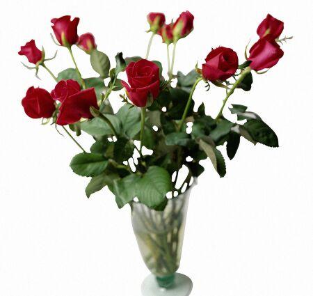 Букет роз в вазе открытки фото рисунки картинки поздравления