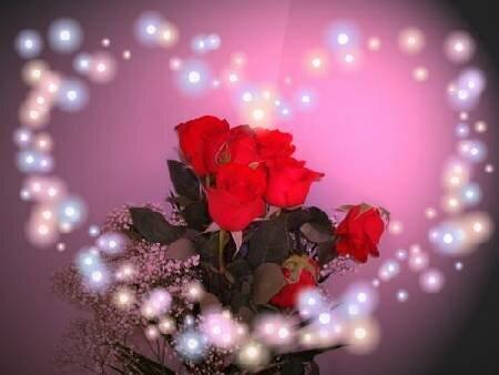 Волшебные розы открытка поздравление картинка