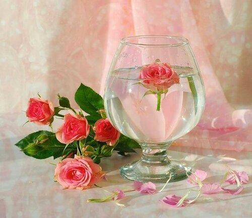 Розы - напоминание открытка поздравление картинка