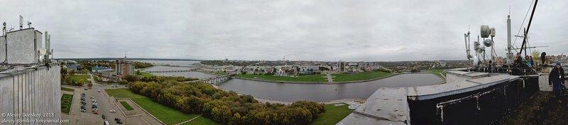 Чебоксары. Панорама Залива с крыши театра