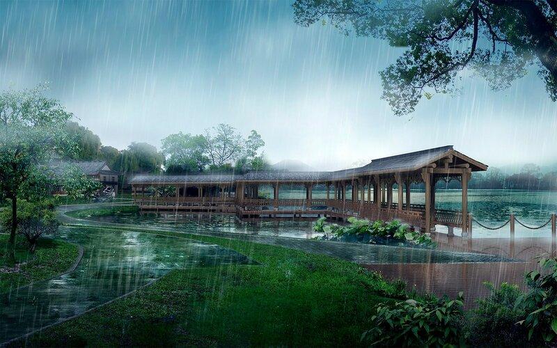 Красивые китайские пейзажи. Фотографии природы Китая, похожей на картины 0 1c4d53 d203ee XL