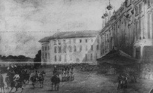 Парад кирасир в Царском Селе  - репродукция с картины.