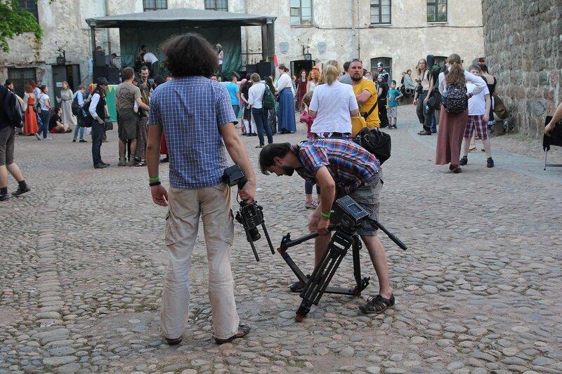телевизионщики на фестивале «Майское дерево 2014»
