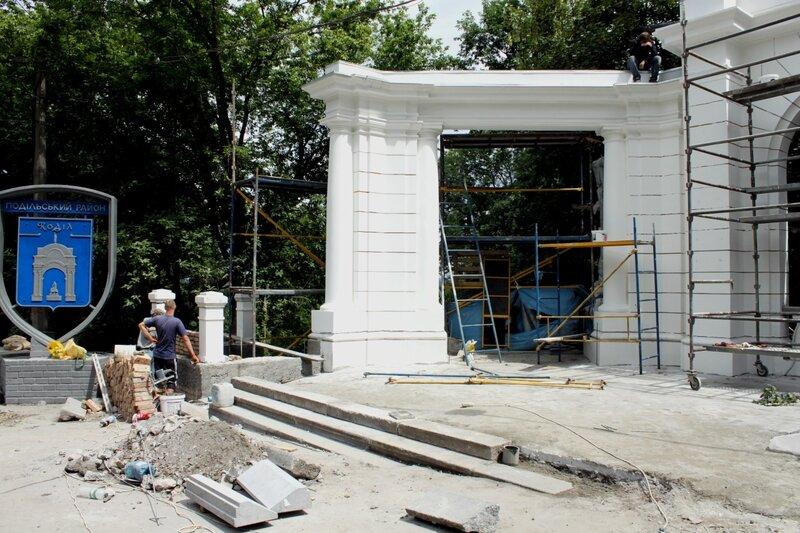 Реконструкция входа на лестницу