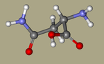 Asparagine - DL-Asparagine, Asparagine, DL-, asparagin, 3130-87-8, DL-Aspartic acid 4-amide, 2,4-diamino-4-oxobutanoic acid, NSC7891, NSC82391-CID_236.png