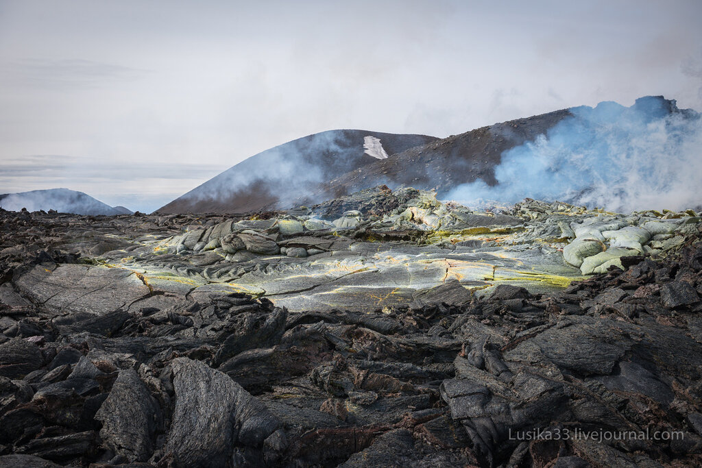 Извержение Толбачика, Камчатка