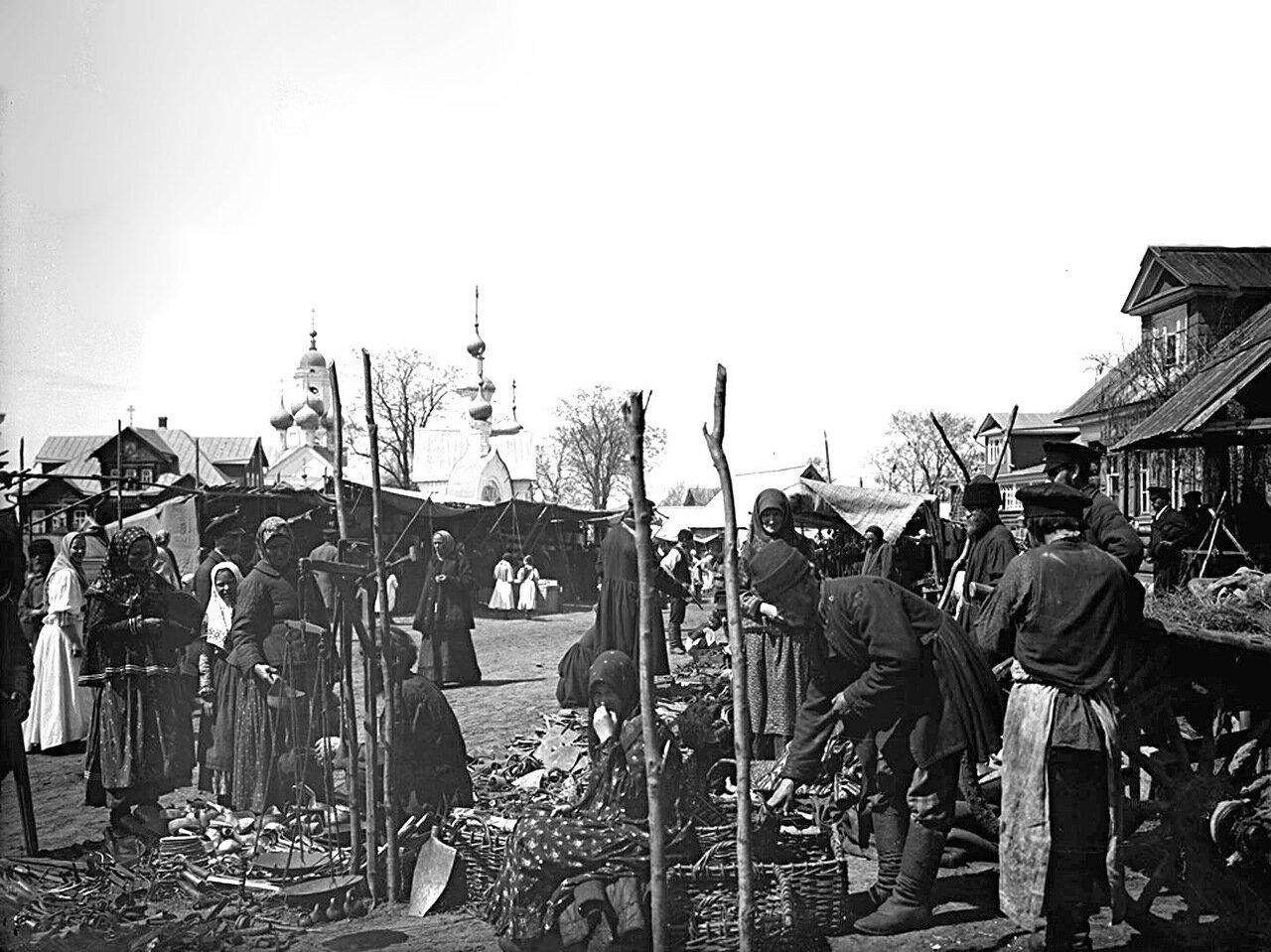 Торговые ряды. Базарная площадь. 1894 г. с. Бор, Нижегородской губернии