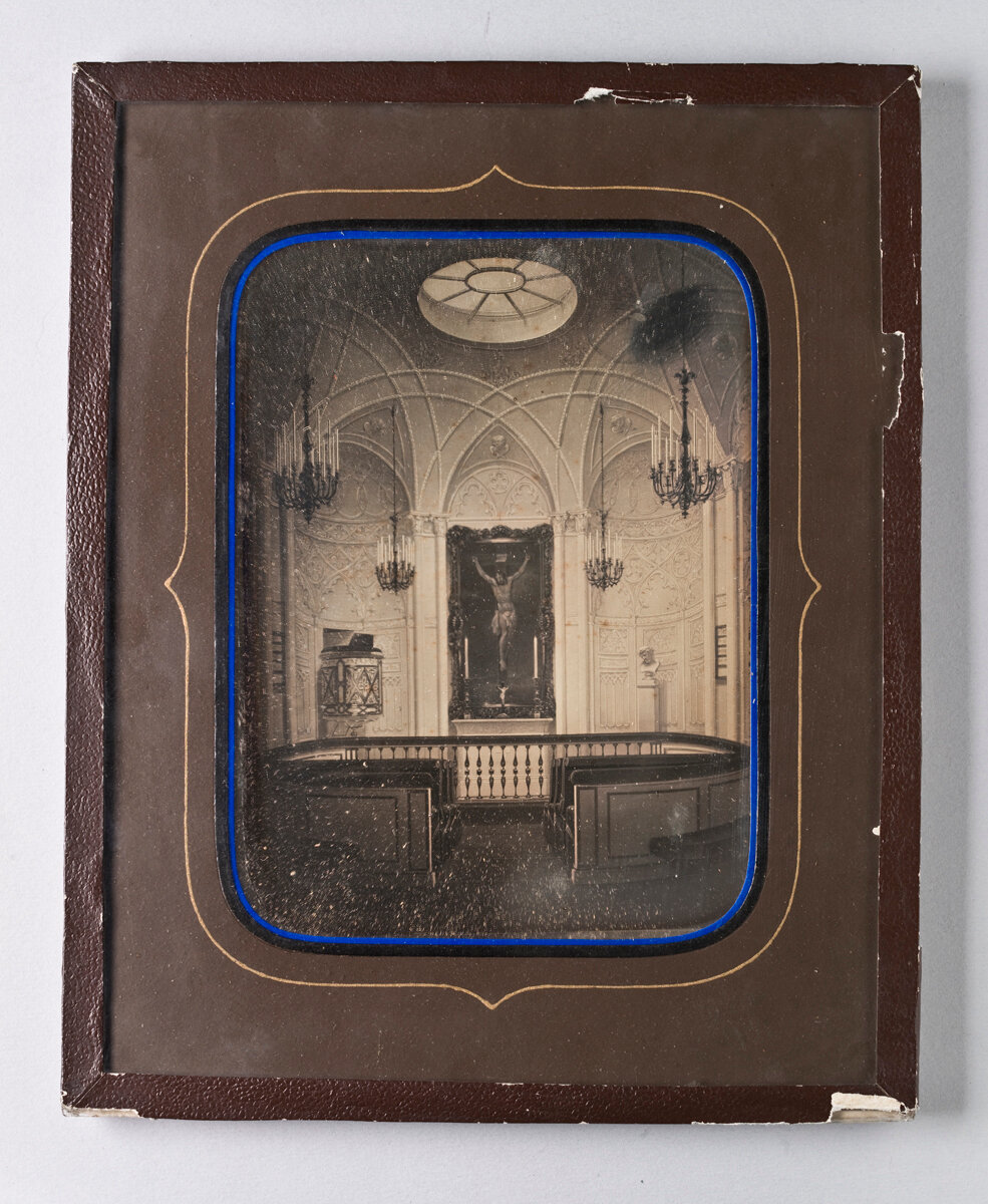 1850. Интерьер часовни в Санкт-Петербурге
