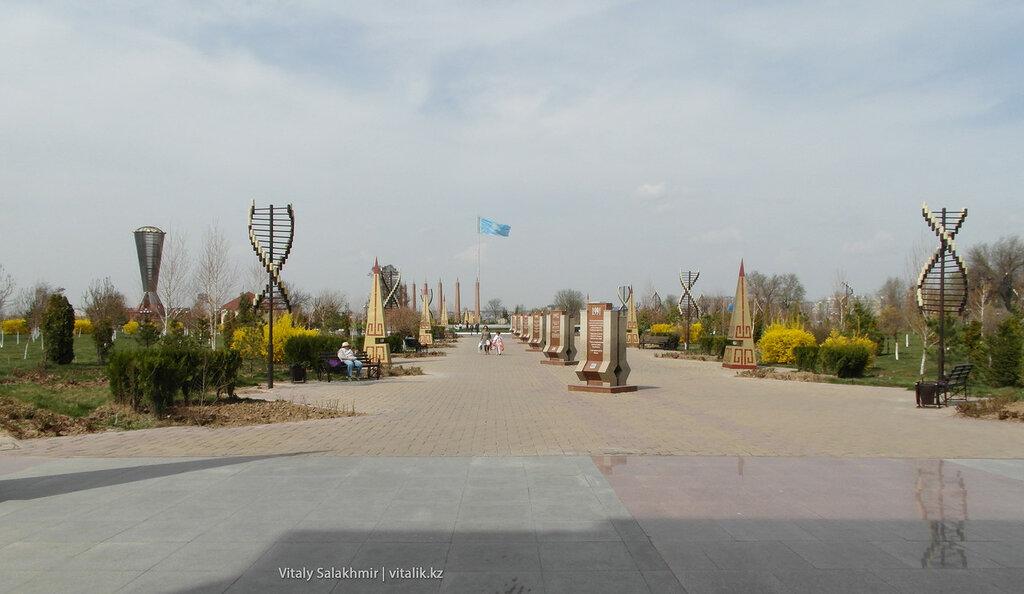 Панорама парка Независимости Шымкент