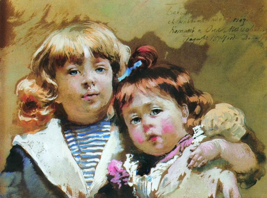 Константин и Ольга Маковские. 1894.