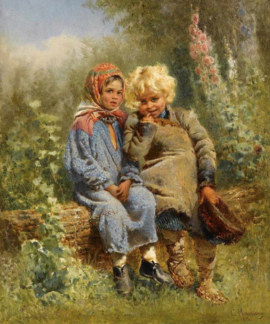 Крестьянские дети Частное собрание.