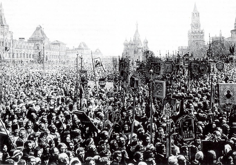 Последний крестный ход на Красной площади. 1918