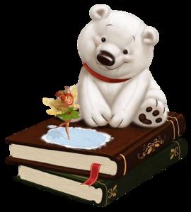 Мишка и фея - картинка канадской художницы Kei Acedera