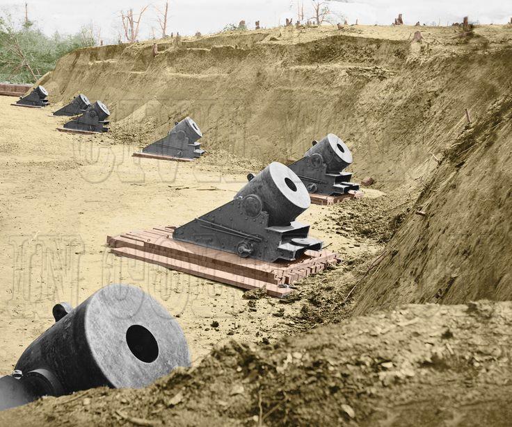 Гражданская война в США в цвете.  Артиллерия  ( 33 фото )
