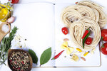 Ingredients fof making Italian Pasta