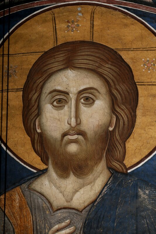 Христос Пантократор. Около 1350 года. Монастырь Высокие Дечаны, Косово, Сербия. Фрагмент.