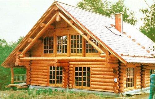 Заказываем дом из оцилиндрованного бревна под ключ