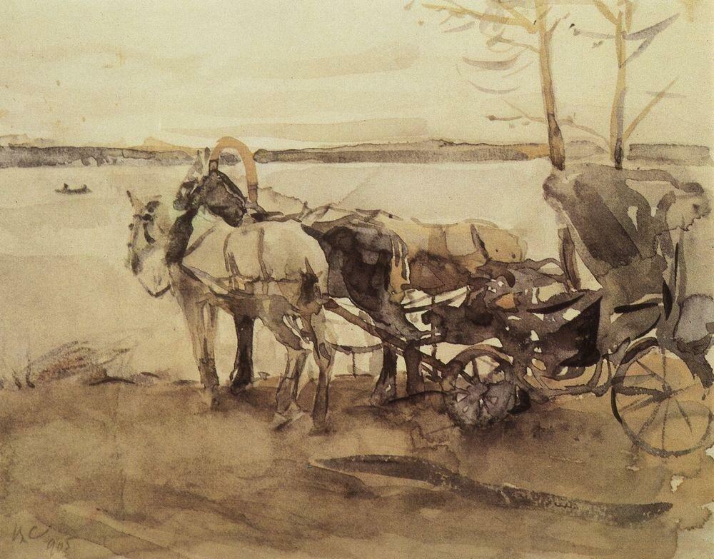 У перевоза. 1905.jpg