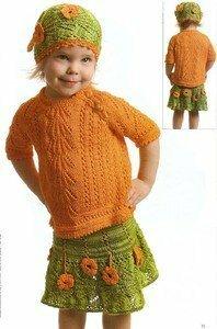 """Комплект для девочки """"Апельсинка"""""""