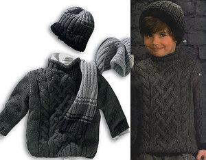 Аран из Phildar (свитер для молодых джентельменов)