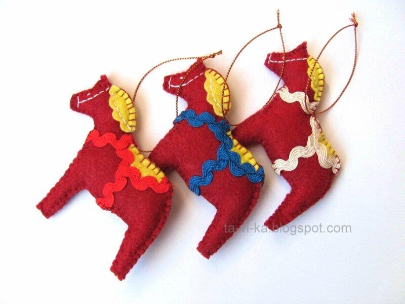елочная игрушка лошадка своими руками